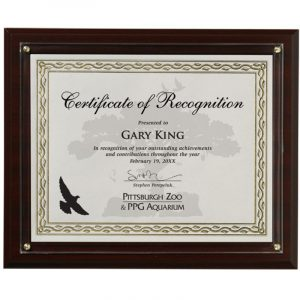 Certificate Plaque Presentation Kit