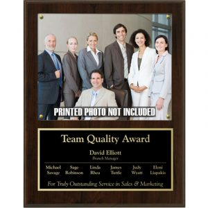 Cherry Finish Photo Holder Plaque Award