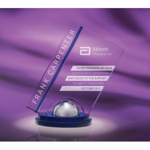 Optical Crystal Satin Chrome Grand Award
