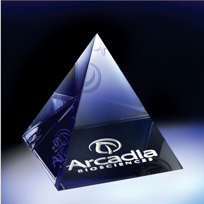 Optic Crystal Pyramid Paperweight