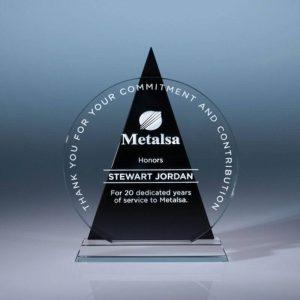Icon Colors Optical Crystal Award