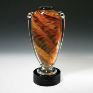 Amber Amphora Ancient Grecian Art Glass Award