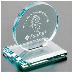Cromwell Circle Jade Crystal Award