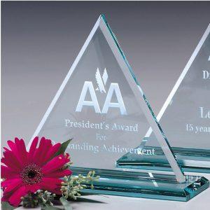 Princeton Triangle Jade Glass Award