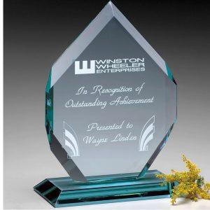 Regal Diamond Jade Crystal Award