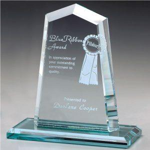 Hamilton Peak Jade Crystal Award