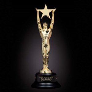 Gold Star Achievement Cast Metal Award