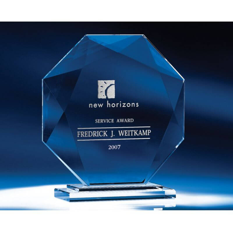 Biltmore Octagon Optical Crystal Award