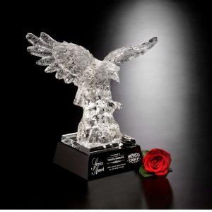 Majestic Crystal Eagle Service Award
