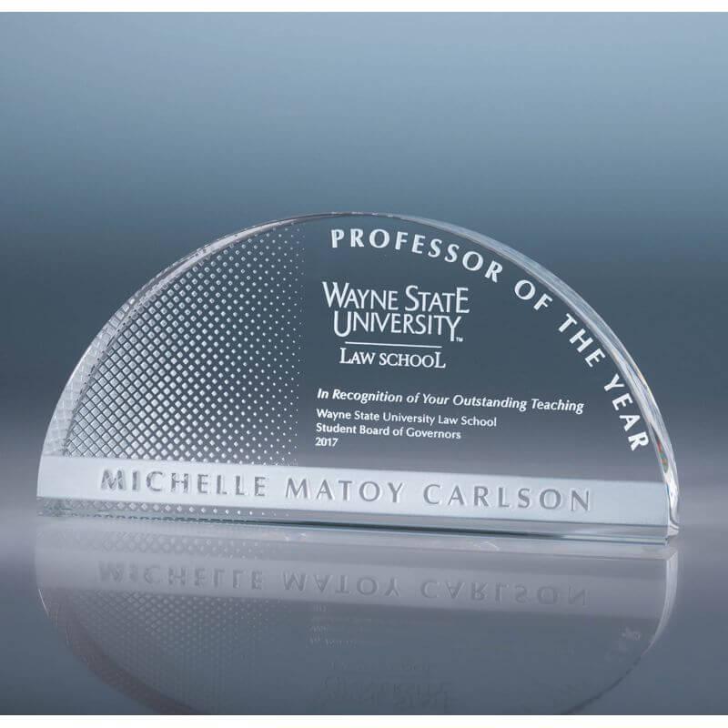 Arch Clear Optical Crystal Award