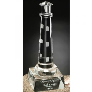 Spirit Rock Lighthouse Crystal Award