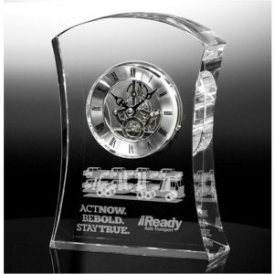Optical Crystal Executive Clock