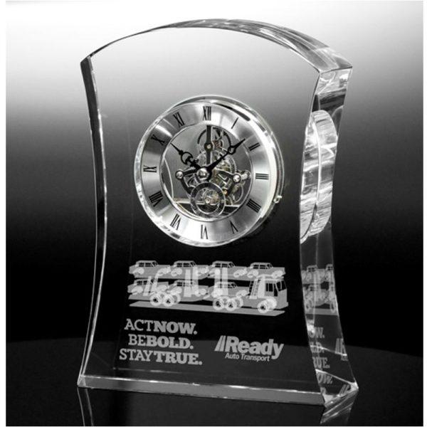 Optical Crystal Executive Clock
