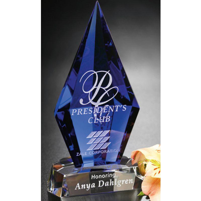 Indigo Diamond Optical Crystal Award