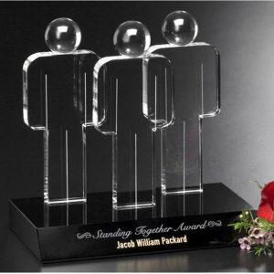 Optical Crystal Standing Together Award