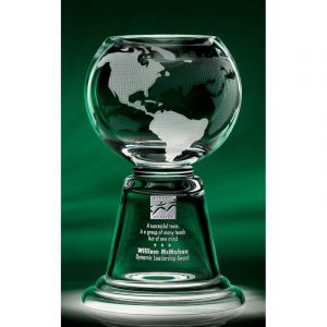 Grande Planet Hand Blown Glass Award