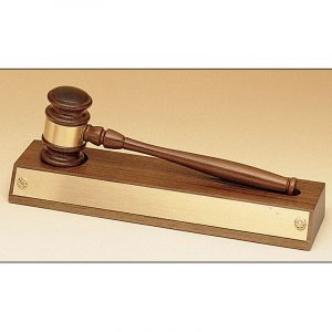 Walnut Gavel Mounted Walnut Base Award