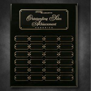 Black Piano Finish 24 Plate Perpetual Plaque
