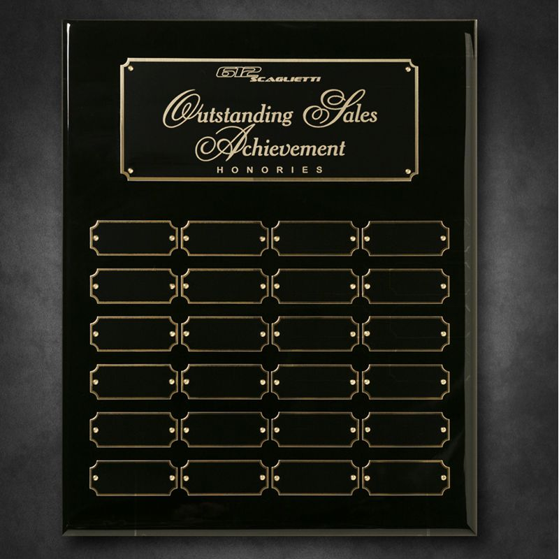 Black Piano Finish 24 Plate Perpetual Plaque