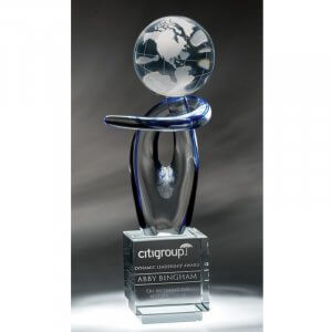 Voyager World Globe Optical Crystal Award