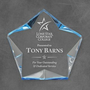 Blue Spectra Superstar Acrylic Award