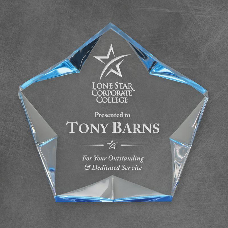 Blue Spectra Superstar Acrylic Award