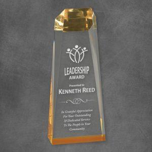 Gold Reflection Obelisk Acrylic Award