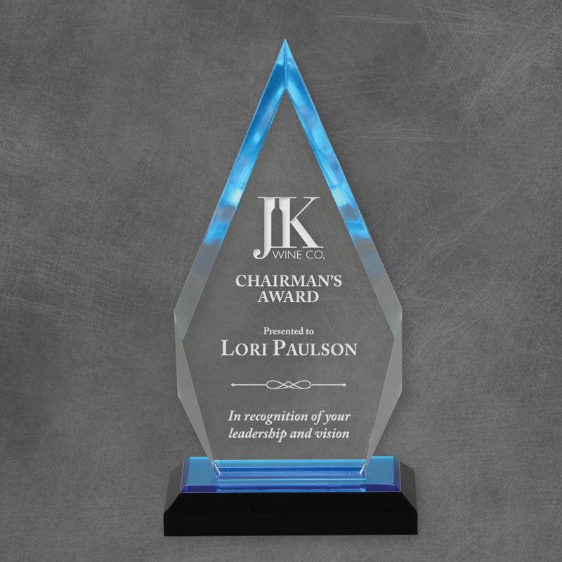 Blue Reflection Arrow Acrylic Award