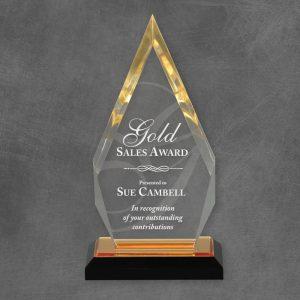 Gold Reflection Arrow Acrylic Award