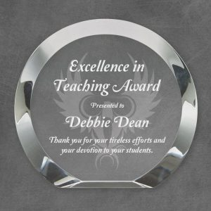Cambridge Round Bevel Crystal Award