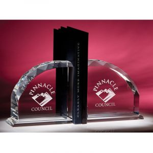 Optical Crystal Radii Bookends