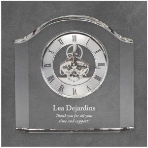 Monticello Crystal Clock Award