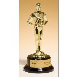 Classic Achievement Goldtone Cast Metal Award