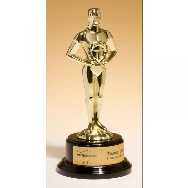 Classic Achievement Goldtone Cast Metal Award
