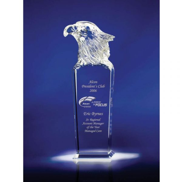 Eagle Head Optical Crystal Recognition Award