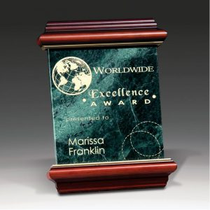 Heritage Green Marble Etched Award Plaque