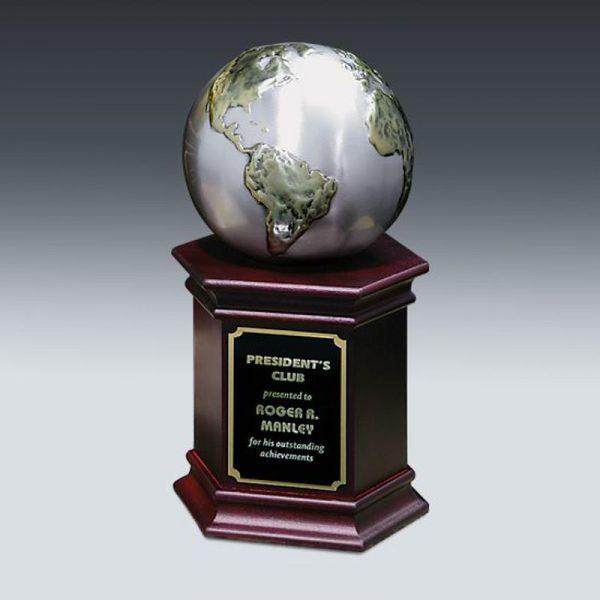 Cast Two Tone Globe Award