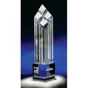 Diamond Tower Rhombus IV Optical Crystal Award