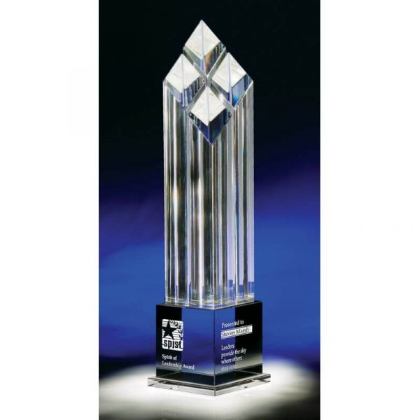 Diamond Tower Rhombus IV Optical Crystal Award