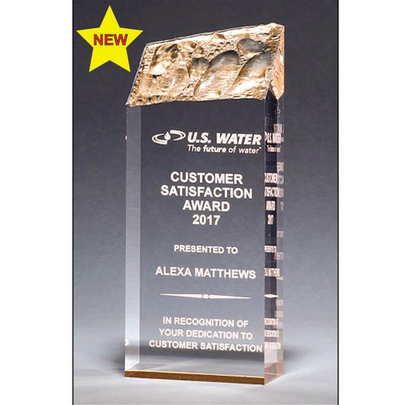Iceberg Gold Accent Acrylic Award