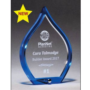 Chandler Blue Flame Acrylic Award