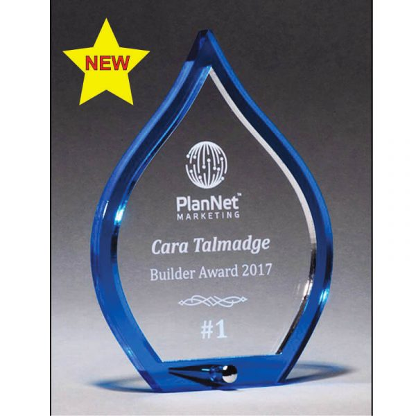 Chandler Blue Flame Acrylic Award