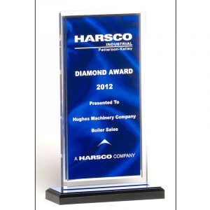 Draped Satin Blue Acrylic Award
