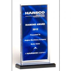 Draped Satin Blue Acrylic Award
