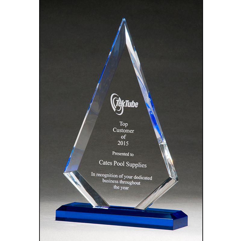 arrow shaped acrylic award