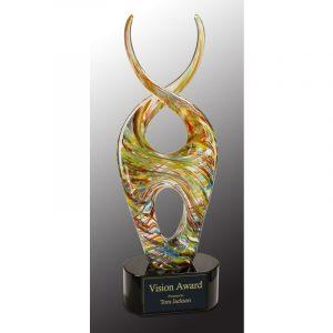 Carnegie Multi Color Twist Art Glass Award