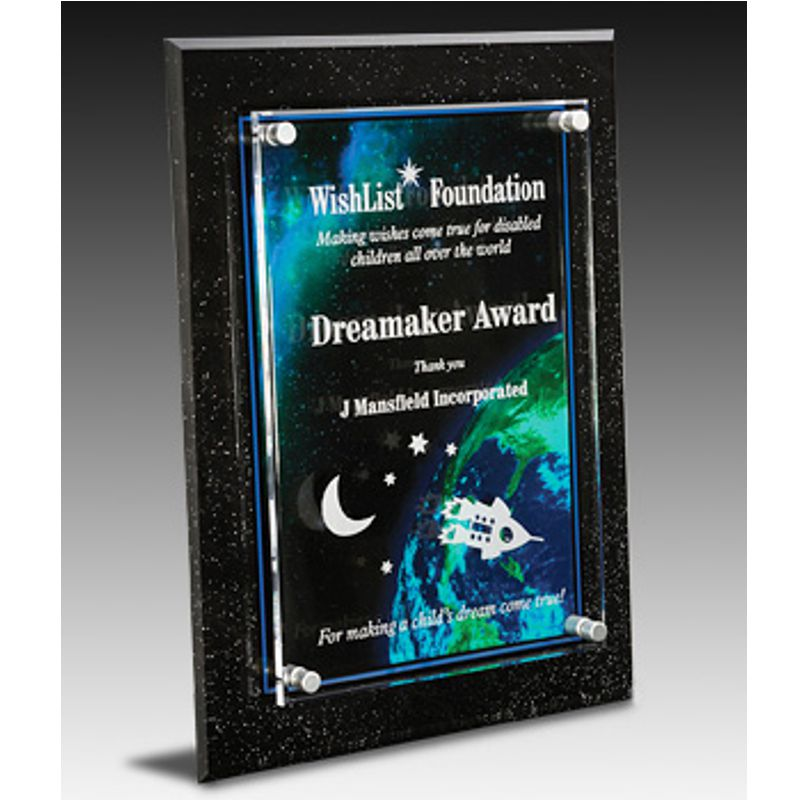 global success acrylic plaque award awardmakersawardmakers. Black Bedroom Furniture Sets. Home Design Ideas
