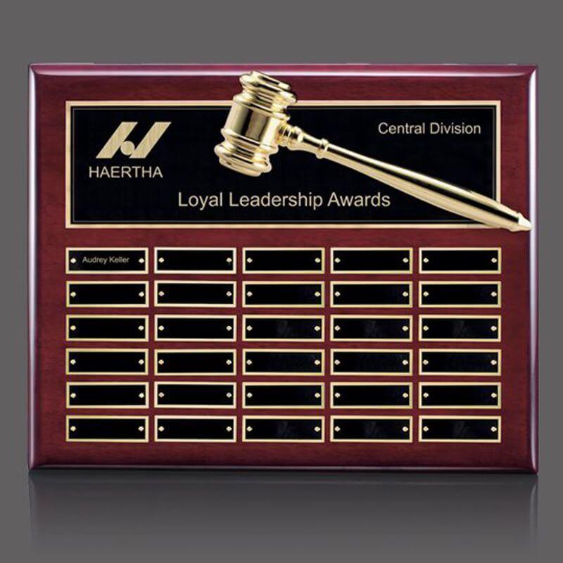 Board Of Directors Gold Gavel Perpetual Plaque Awardmakers