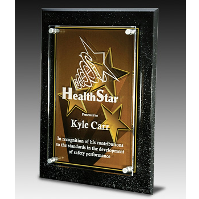 star excellence acrylic plaque award awardmakersawardmakers. Black Bedroom Furniture Sets. Home Design Ideas