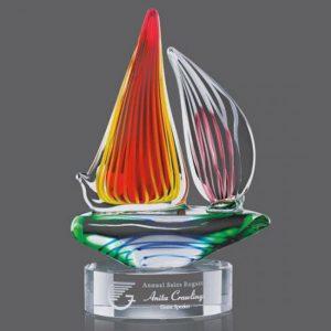 Valdez Regatta Sailboat Art Glass Award